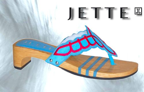 Jette New Mexican Sandal Turquoise/Red Größe EU 42
