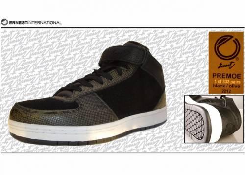 Ernest Sneaker (Leder) - Primo Slum 2212 (black/olive) EU 44 - 1