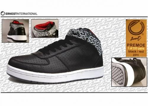 Ernest Sneaker (Leder) - Primo Signature 2211 (black/red) EU 42