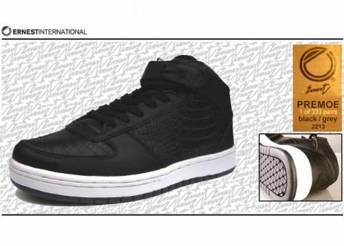 Ernest Sneaker (Leder)  - Primo Crocodile 2213 (black/grey) EU 42