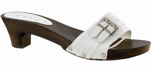 JETTE JOOP Twin Buckle Wood Sandal white - EU 36 - 1