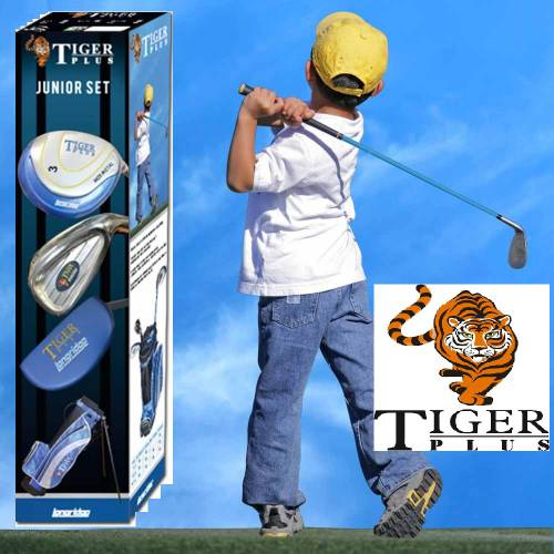 LONGRIDGE Junior Tiger Plus Graphite Golf Package - (4-7) JAHRE LH - JUPTP4GRLH