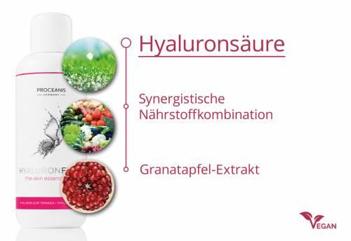 PROCEANIS® Hyaluronfiller – 2 Flaschen à 250 ml + Trinkglas