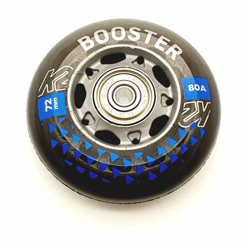 K2 BOOSTER SKATE ROLLEN 8 STÜCK 72mm/80A + ILQ5 + ALU SPACER (30F3005.1.1) - 1