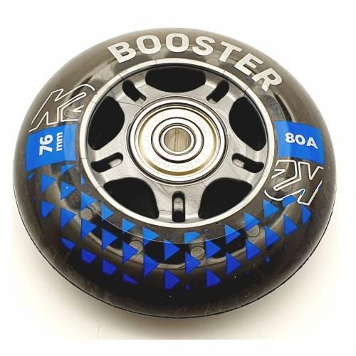 K2 BOOSTER SKATE ROLLEN 8 STÜCK 76mm/80A + ILQ5 + ALU SPACER (30F3006.1.1) - 1