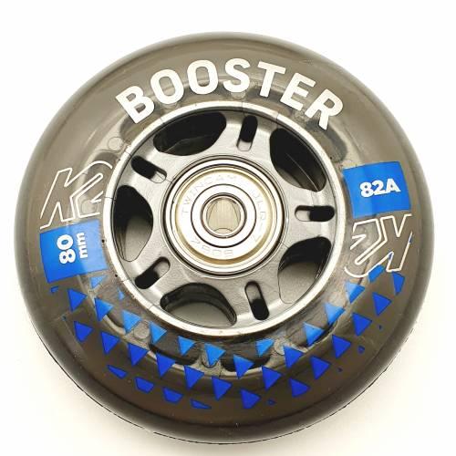 K2 BOOSTER SKATE ROLLEN 8 STÜCK 80mm/82A + ILQ7 + ALU SPACER (30F3009.1.1) - 1