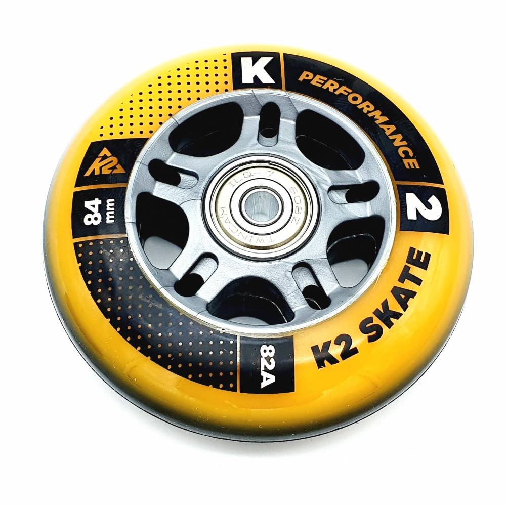 K2 PERFORMANCE FORMULA SKATE ROLLEN 8 STÜCK 84mm/82A + ILQ7 + ALU SPACER (3053011.1.1) - 2