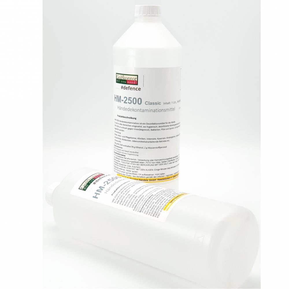 GOLFKONTOR #defence - Flüssige, alkoholische Händedesinfektionsmittel - 1 Liter - 2