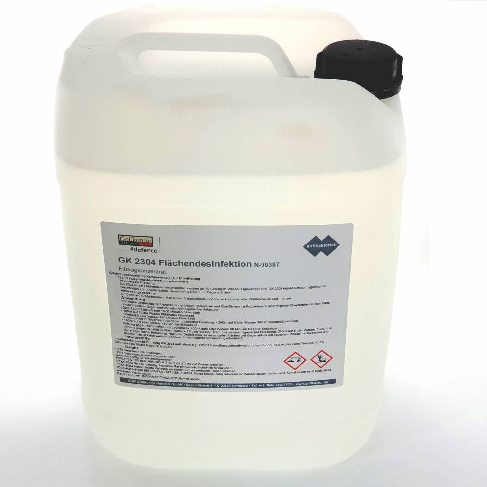 GK 2304 Flächendesinfektion, Konzentrat flüssig - 10 Liter (ergibt bis zu 100L) ..Mengenrabatt ab 12 Einheiten - 2