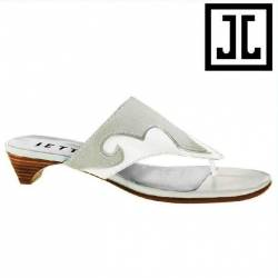Gaucho Leather Sandale ivory - EU 40.5