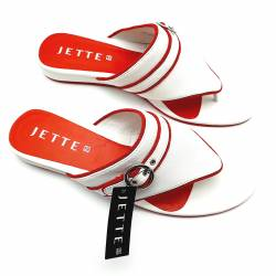 JETTE JOOP CRUISING Sandale Leather - white/coral - EU 43